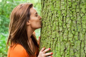 Woman Kissing Tree